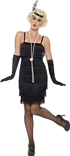 Black Flapper Short Dress Adult / Plus (Black Flapper Adult Plus Costumes)
