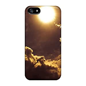 Iphone 5/5s Case Cover - Slim Fit Tpu Protector Shock Absorbent Case (sun)