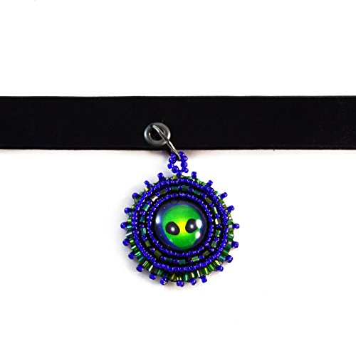 Alien Choker Necklace Leather Science Fiction Gothic Collar Halloween (Science Fiction Halloween)