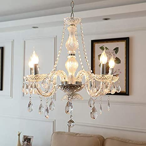 Chandelier Pendant Ceiling Lighting Fixture 5 Lights Saint Mossi Modern Contemporary Elegant Acyclic Not Glass//Crystal