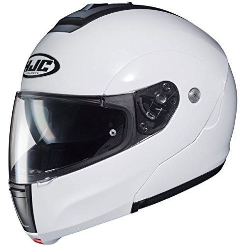 - HJC Solid Men's CL-MAX 3 Modular Street Motorcycle Helmet - White / Large