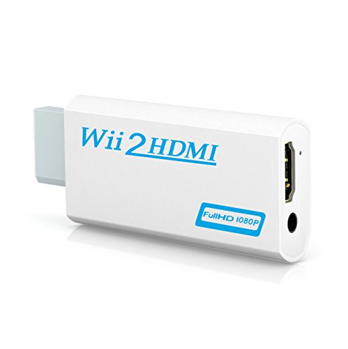 Wii to hdmi converter, Gana wii to hdmi adapter, wii to hdmi1080p 720p connector Output Video & 3.5mm Audio - Supports All Wii Display (Multi Format Converter)