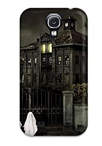 Awesome Halloween Scary House Flip Case With Fashion Design For Galaxy S4