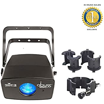 Chauvet DJ Abyss USB LED Flowing Water Lighting Effect and CLP-10 Clamp Bundle with 1 Year Free Extended Warranty