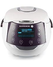 Reishunger Cuociriso Digitale (1.5l/860W/220V) bollitore multifunzione con 12 programmi, tecnologia a 7 fasi - Interno pentola, timer e funzione di riscaldamento - riso per un massimo di 8 persone