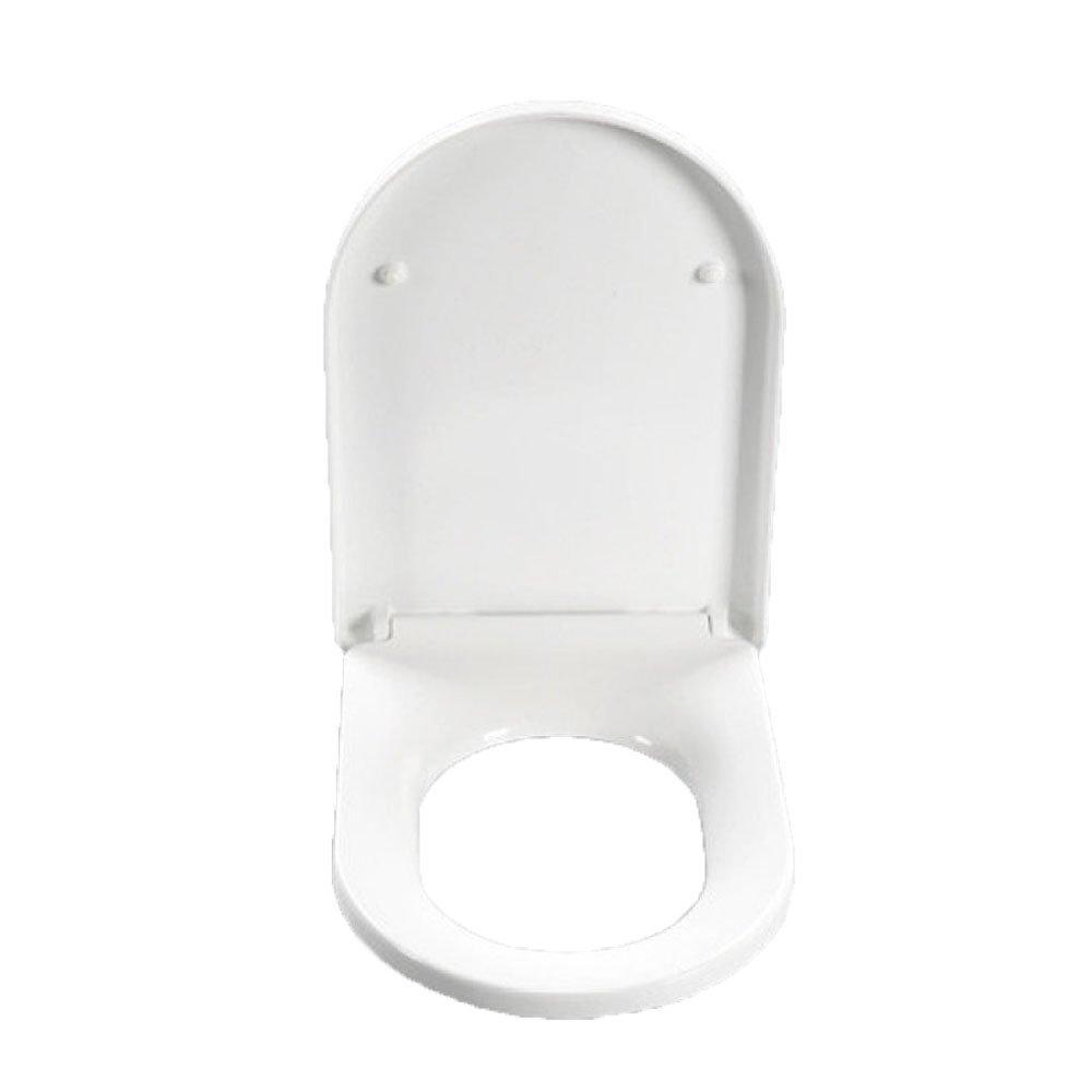 K LDFN Universal Toilet Seat Toilet Step-down Thicken Mute Cover Seat Antibacterial,B