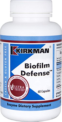 Kirkman Biofilm Defense || 60 Vegetarian Capsules || enzymes || Free of common allergens || Tested for more than 950 environmental contaminants