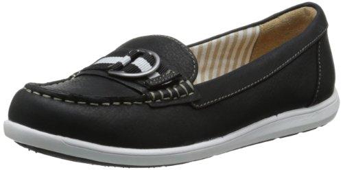 Naturalizer Women's Japara Boat Shoe,Black,8 W US