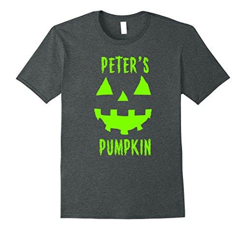 Mens Couples Halloween Costume Ideas Peter's Pumpkin T-Shirt XL Dark Heather