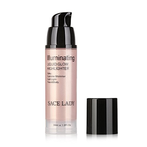 Liquid Glow Highlighter Lip Foundation Makeup Shimmer Cream Facial Bronzer Contour Cosmetic - Highlight Brightening Solution 30ml