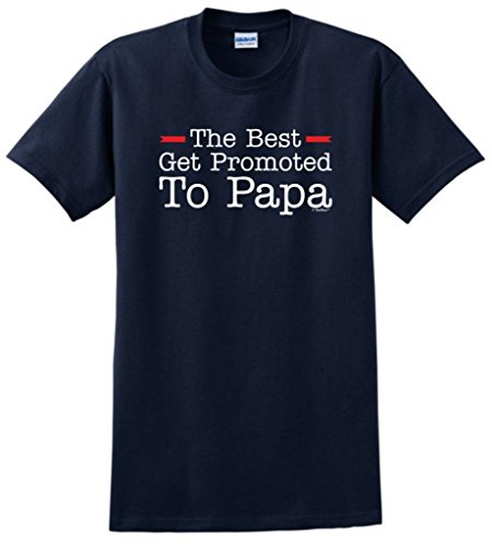 The Best Get Promoted to Papa, New Grandpa Gift T-Shirt Large ()