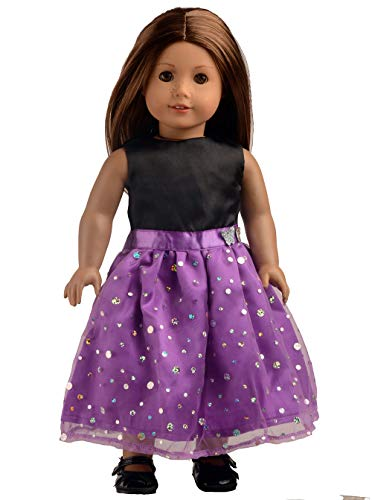 sweet dolly Black & Light Purple Party Dress Doll Clothes for 18