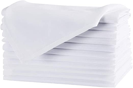 100/% Polyester All Sizes Available Cloth Dinner Table Napkins Machine Washable