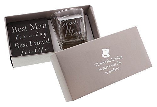 Best Man Whiskey Glass and Coaster Gift Set By Haysom Interiors