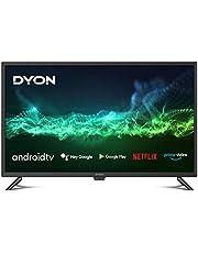 DYON Smart 32 AD 80 cm (32 inch) Android TV (HD Triple Tuner, Google Play Store, Google Assistant, Prime Video, Netflix, BT-afstandsbediening met microfoon) [Modeljaar 2021]