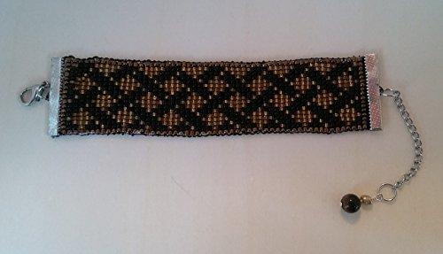 Handmade Gold and Black Weave Pattern Beaded (J Renee Wrap)