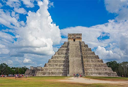 (Yeele 6x4ft Photography Background Mayan Ruins Mayan Temple Pyramids Historical Building Ancient Civilization Ruins Mexican Cancun Stonewall Archaeology Reasearch Events Photo Backdrop)