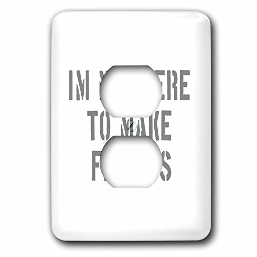 3dRose Uta Naumann Sayings and Typography - Im Not There To Make Friends-Funny Motivation Typography on White - Light Switch Covers - 2 plug outlet cover (lsp_272831_6)