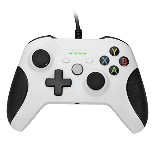 BeneGlow® Streamlined Dual Vibration Controller for Xbox One Slim/ Xbox One/ PC with 4 LED Indicators and 3.5 Audio Jack