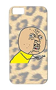 Y U No Yellow TPU Drop Resistant For Iphone 5c Rage Face Satire Funny T Shirt Meme Comic Facebook Shirts Cartoon Funny Brown Case Cover