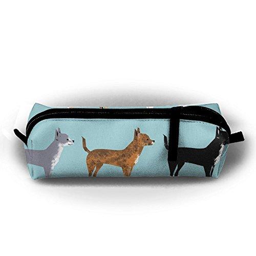tuoluoo Chihuahua abrigos perro lindo pen case lápiz bolsa Holder bolsa de maquillaje cosmético bolsa