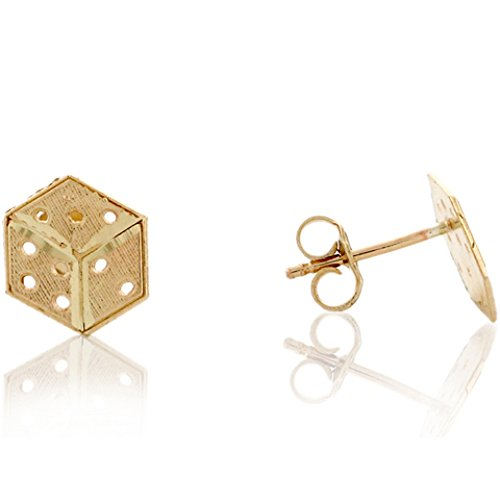 14k Yellow Gold Dice - 4