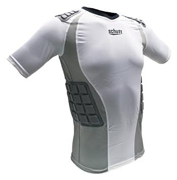 684d9f949 Amazon.com : Schutt Protech Football Protective Shirt, White/Grey ...