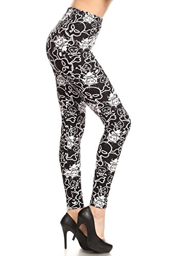 R877-EXTRAPLUS Lady Bane Print Fashion Leggings