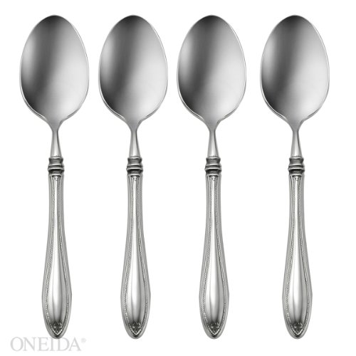 Oneida Sheraton Fine Flatware Set, 18/10 Stainless, Set of 4 Dinner Spoons (Dinner Sheraton)