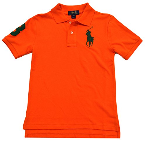 Polo Ralph Lauren Boy's Big Pony Mesh T-shirt, Medium(10-12 yrs), Orange