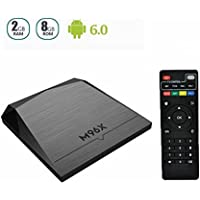 MLIUS Android 6.0 Smart TV Box M96X Amlogic S905X 64 Bits 2GB 8GB Quad Core A53 4K HD 2.4GHz Wifi Set Top Box Media player