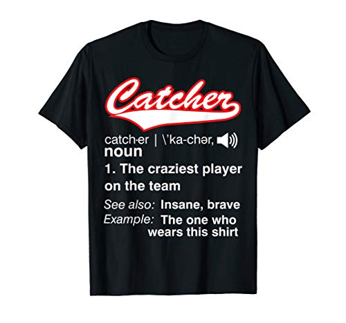 Softball, Baseball Catcher T shirt,Vintage funny Definition