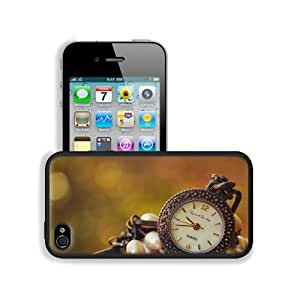 Bokeh Suspension Miscellanea Clock Dial Apple iPhone 4 / 4S Snap Cover Premium Leather Design Back Plate Case Customized Made to Order Support Ready 4 7/16 inch (112mm) x 2 3/8 inch (60mm) x 7/16 inch (11mm) MSD iPhone_4 4S Professional Cases Touch Access