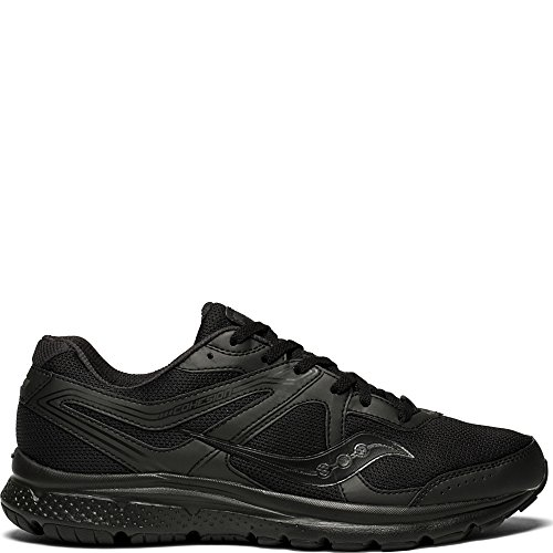 Saucony Men's Cohesion 11 Running Shoe, Black, 14 Wide US