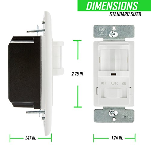 topgreener tsos5 w in wall pir motion sensor light switch single pole fluorescent 500va motor. Black Bedroom Furniture Sets. Home Design Ideas