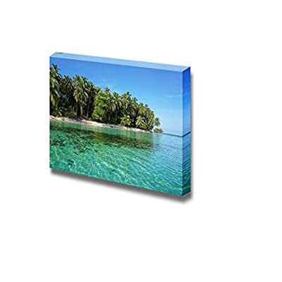 Beautiful Tropical Scenery Landscape Pristine Caribbean Island Nature Beauty Wall Decor, Top Quality Design, Grand Handicraft