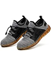 Loosnow Men Indestructible Work Shoes, Breathable Puncture Proof Labor Insurance Sneakers for Summer