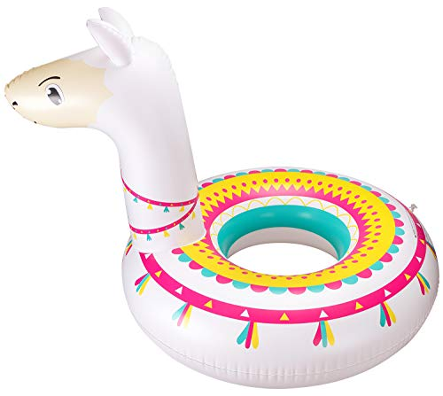 Llama Pool Float Ride On Party Toys Alpaca Inflatable Swimming Ring Water Supplies ()