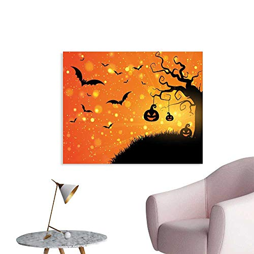 (J Chief Sky Halloween Cool Posters Magical Fantastic Evil Night Icons Swirled Branches Haunted Forest Hill Posters Art W36)