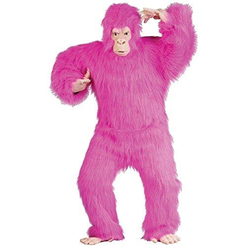 [Adult's Deluxe Pink Gorilla Halloween Costume (Size: Standard 42-46)] (Pink Gorilla Suit)