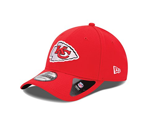 New Era NFL Kansas City Chiefs Team Classic 39THIRTY Stretch Fit Cap, Large/X-Large, -