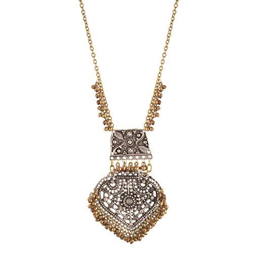 Zephyrr Fashion Turkish Style Beaded Long Pendant Necklace for Women Boho Gypsy (Adjustable Beaded Heart Necklace)