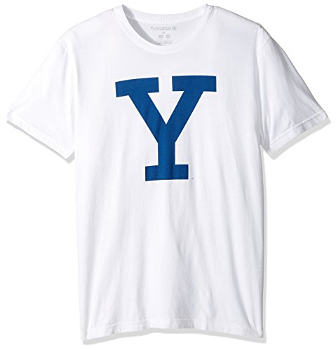 (Alma Mater NCAA Yale Bulldogs Men's Organic Seaweed Ink Short Sleeve Crew Neck T-Shirt, XX-Large, White)