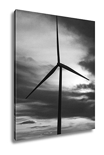 Ashley Canvas Sunset At A Colorado Wind Turbine, Wall Art Home Decor, Ready to Hang, Black/White, 20x16, AG6369832