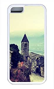 iPhone 5c case, Cute Church Valtellina iPhone 5c Cover, iPhone 5c Cases, Soft Whtie iPhone 5c Covers