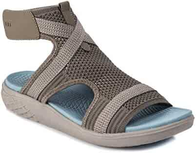 ca77c7f7e089 BareTraps Phoenix Women s Sandals   Flip Flops Medium Grey Size 8.5 M  (BT26472)