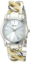 Geneva Women's 2406D-GEN Analog Display Quartz Silver Watch