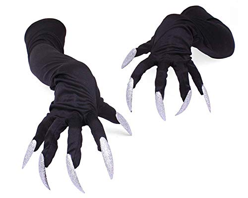 Pavian Devil Arm Sleeve Gloves Sharp Fingernails Horror Ghost Witch Vampire Hallowwen Cosplay Costume Set