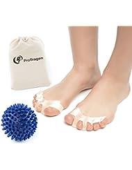 Toe Separators - Yoga Massage Ball - for Bunions, Hammertoe - Foot Pain Relief by ProTragen
