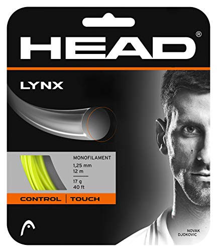 Head Lynx Tennis String Set (Neon Yellow, 16 gauge)